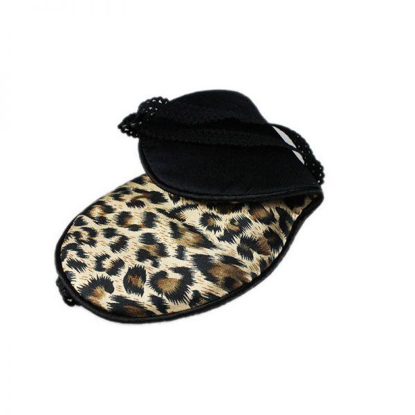 Шелковая маска для сна леопардовая