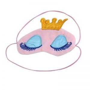 Маска для сна с короной розовая