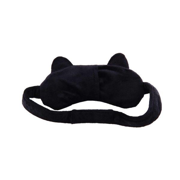 """Маска для сна с охлаждающей вставкой """"Кошка"""" черная"""