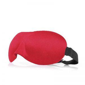 3d маска для сна красная