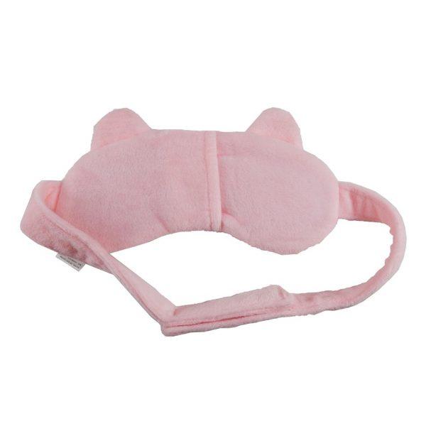 """Маска для сна с охлаждающей вставкой """"Кошка"""" розовая"""