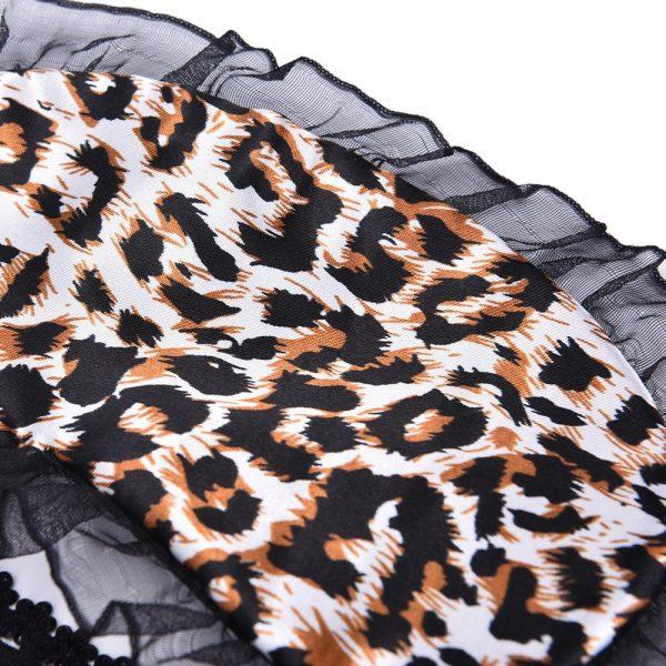 Кружевная маска для сна леопардовая