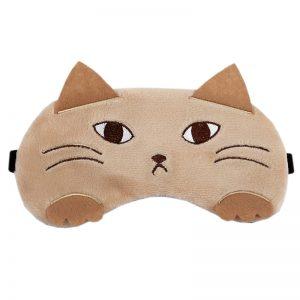 """Маска для сна """"Кошка"""" с охлаждающей вставкой"""