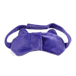 """Маска для сна с охлаждающей вставкой """"Кошка"""" фиолетовая"""