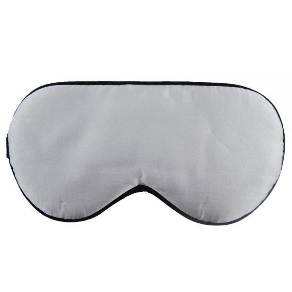 Шелковая маска для сна серая