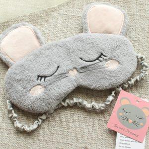 """Меховая маска для сна """"Мышка"""""""