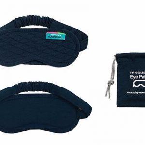 Классическая маска для сна синяя в сумочке