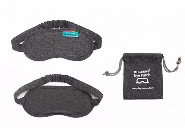Хлопковая маска для сна серая в сумочке
