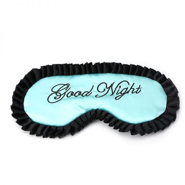 """Кружевная маска для сна голубая """"Good night"""""""