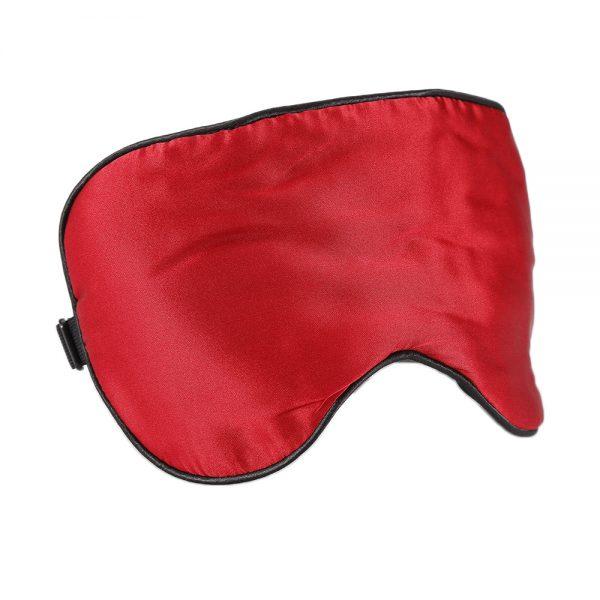 Шелковая маска для сна красная