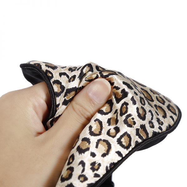 Шелковая маска для сна леопардовая большая