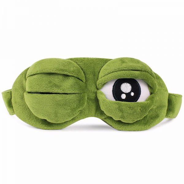 """Меховая маска для сна """"Лягушка"""" с глазами"""
