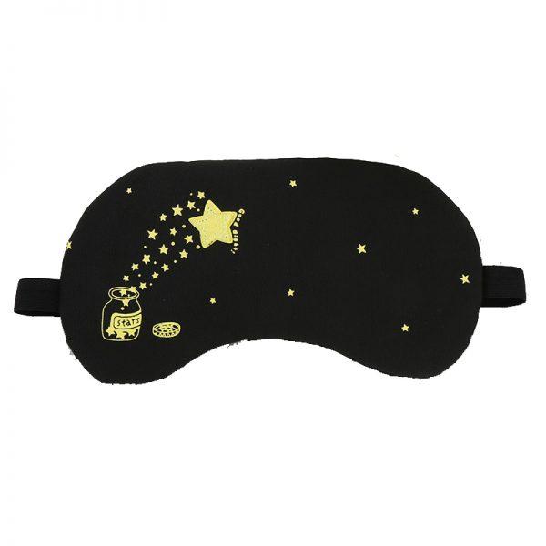 Маска для сна со звездами с охлаждающей вставкой