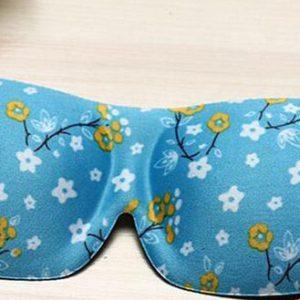 3D маска для сна голубая с узором