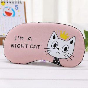 "Маска для сна ""I'm a night cat"" розовая"