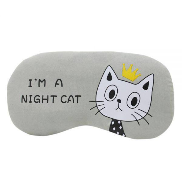 """Маска для сна """"I'm a night cat"""" серо-зеленая"""