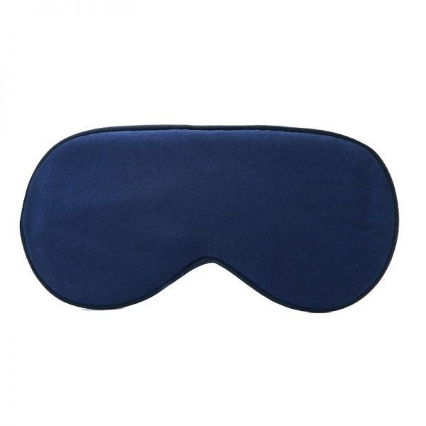 Шелковая маска для сна синяя