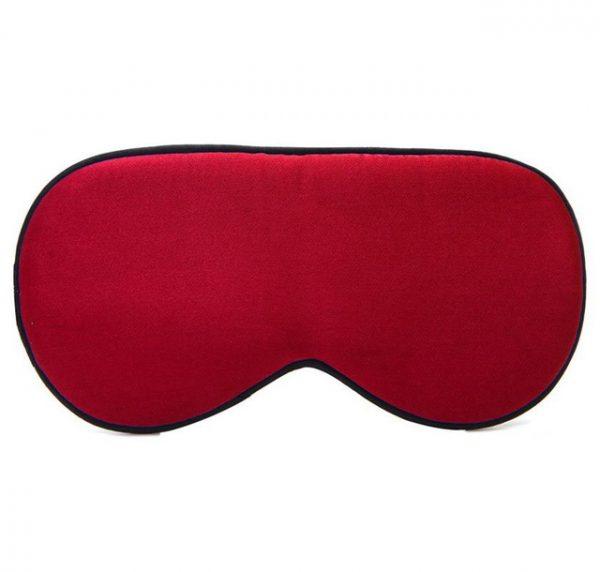 Шелковая маска для сна красная увеличенной ширины