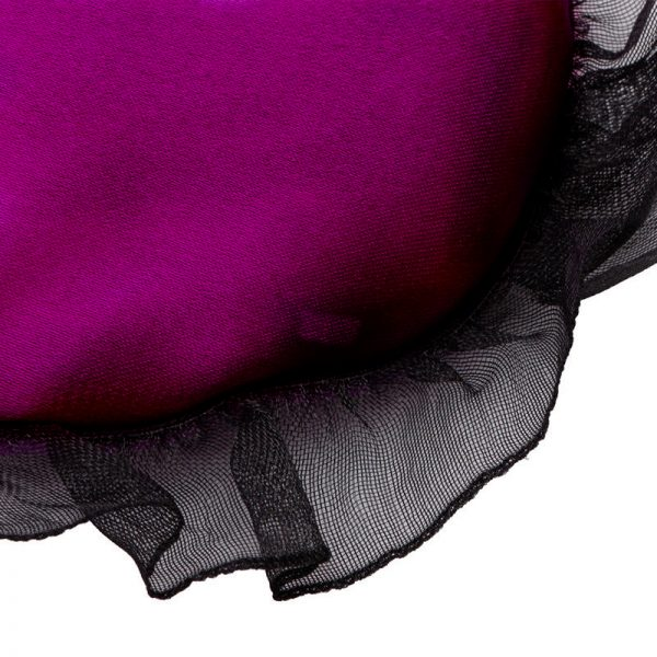 Кружевная маска для сна пурпурная из искусственного шелка
