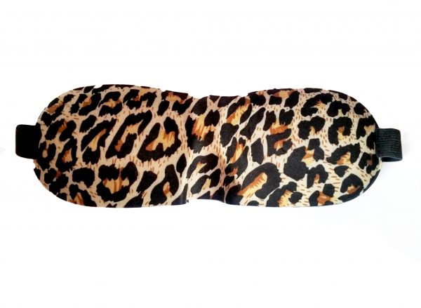 3D маска для сна леопардовая
