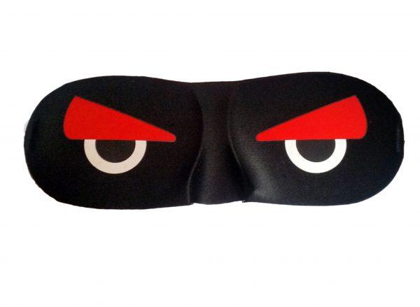 "3D маска для сна черная ""Angry Birds"""