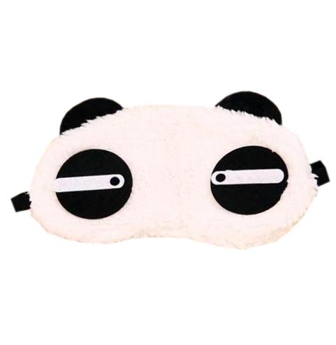 """Маска для сна меховая """"Панда"""" с горизонтальными глазами"""