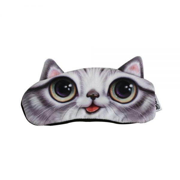 """Маска для сна веселая """"Глазастая кошка"""""""