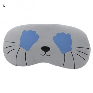 """Маска для сна серая """"Кошка с закрытыми глазами"""""""
