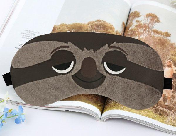 """Плюшевая маска для сна с охлаждающей вставкой """"Ленивец"""" из Зверополиса"""