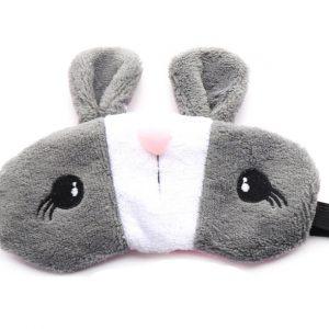 """Меховая маска для сна """"Серый кролик"""""""