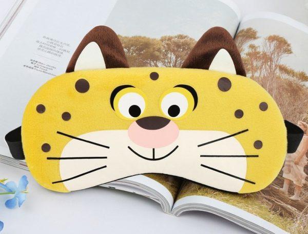 """Плюшевая маска для сна с охлаждающей вставкой """"Тигр"""" из Зверополиса"""