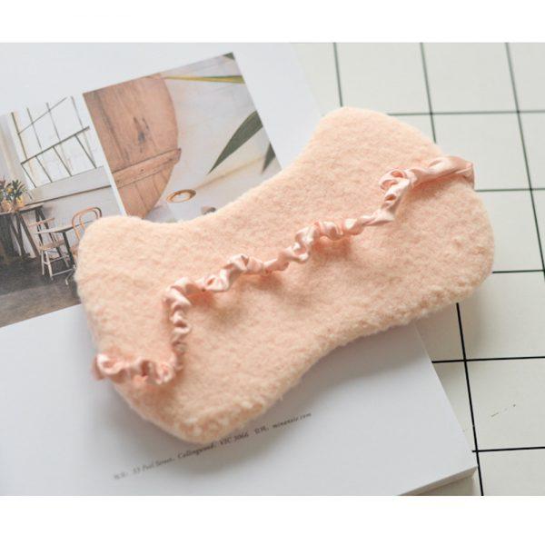 Шерстяная маска для сна «Кошка» розовая