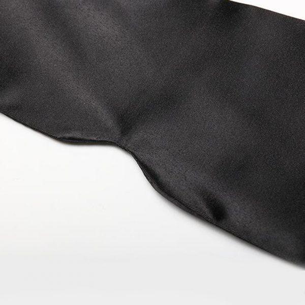 """Шелковая эротическая маска """"Черная лента"""""""