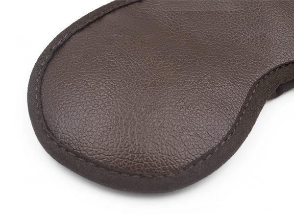 Турмалиновая маска для сна магнитная коричневая
