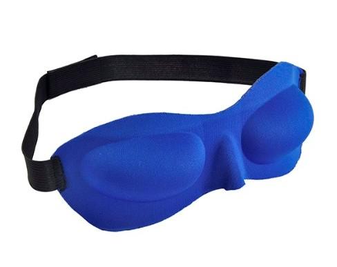 3D маска для сна синяя объемная