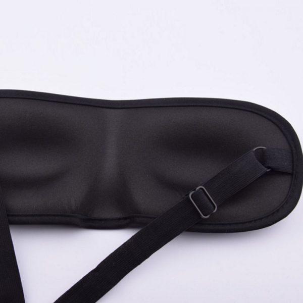 3D маска для сна дышащая с окантовкой черная