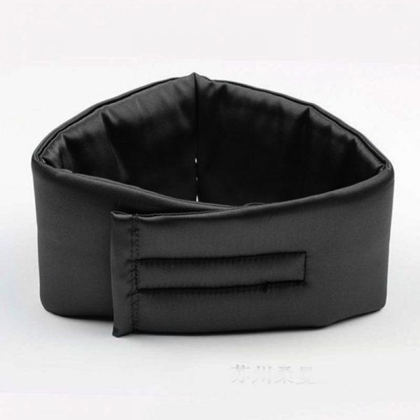 Шелковая маска для сна (повязка) черная большая