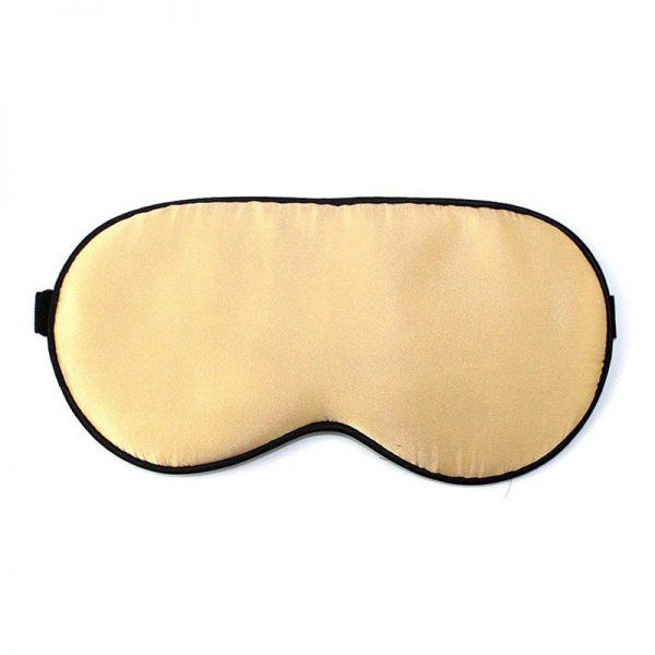 Маска для сна классическая светло-желтая