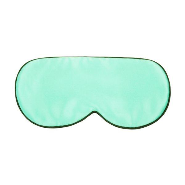 Шелковая маска для сна светлая зелено-голубая