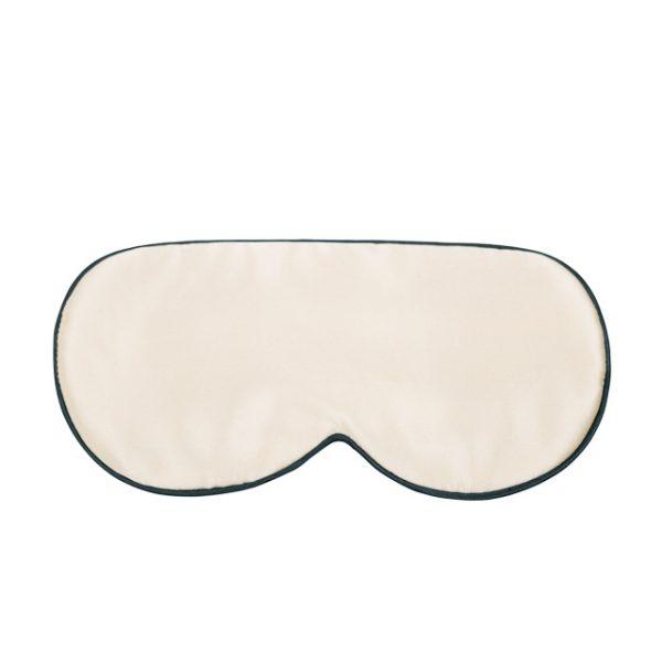 Шелковая маска для сна бежевая