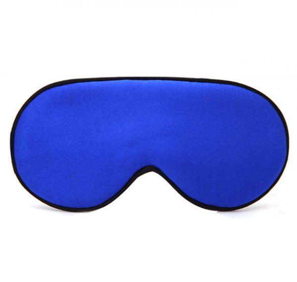 Шелковая маска для сна ярко-синяя