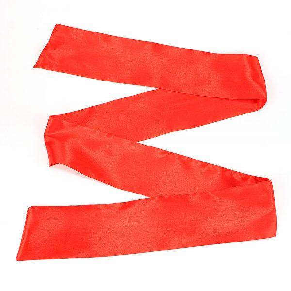 Повязка на глаза (лента) красная из искусственного шелка