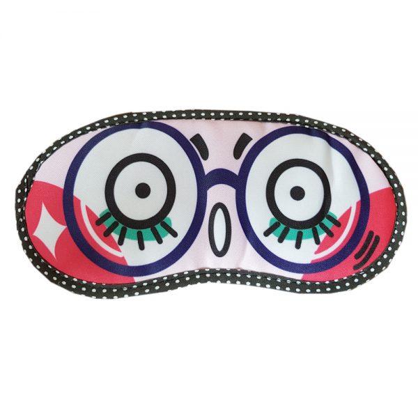 """Маска для сна с рисунком """"Удивленная в очках"""""""