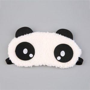 """Маска для сна меховая """"Панда"""" с жалобными глазами"""