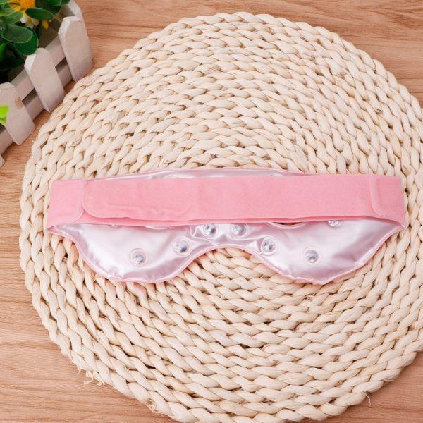 Турмалиновая маска (очки) для сна розовые
