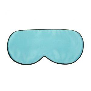 Шелковая маска для сна ярко-голубая