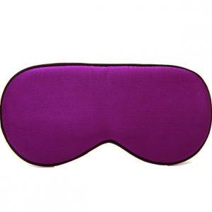 Шелковая маска для сна сиреневая