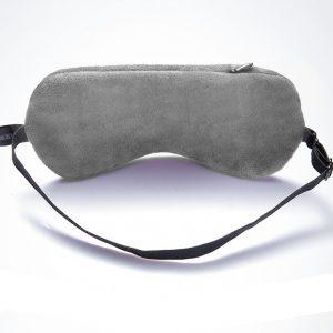 Маска для глаз с обогревом от USB с лавандовым саше серая