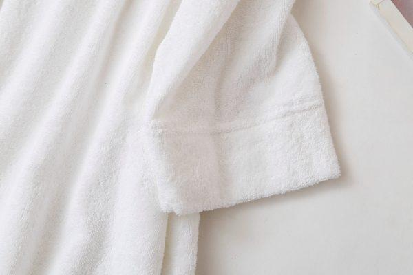 Халат хлопковый махровый белый классический
