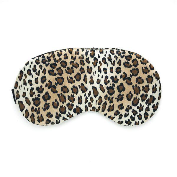 Маска для сна из искусственного шелка с леопардовым принтом